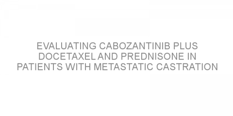 Evaluating cabozantinib plus docetaxel and prednisone in patients with metastatic castration resistant prostate cancer