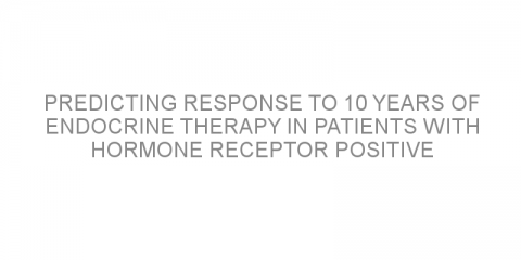 Predicting response to 10 years of endocrine therapy in patients with hormone receptor positive early stage breast cancer