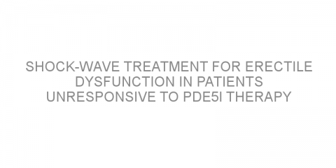 Shock-wave treatment for erectile dysfunction in patients unresponsive to PDE5I therapy