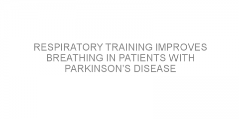 Respiratory training improves breathing in patients with Parkinson's disease