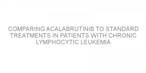 Comparing acalabrutinib to standard treatments in patients with chronic lymphocytic leukemia