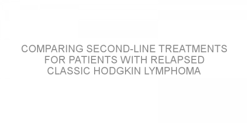 Comparing second-line treatments for patients with relapsed classic Hodgkin lymphoma