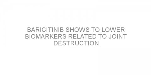Baricitinib shows to lower biomarkers related to joint destruction