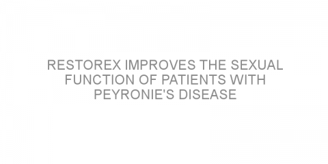 RestoreX improves the sexual function of patients with Peyronie's disease