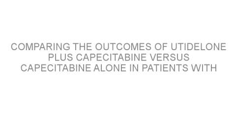 Comparing the outcomes of utidelone plus capecitabine versus capecitabine alone in patients with previously treated resistant metastatic breast cancer