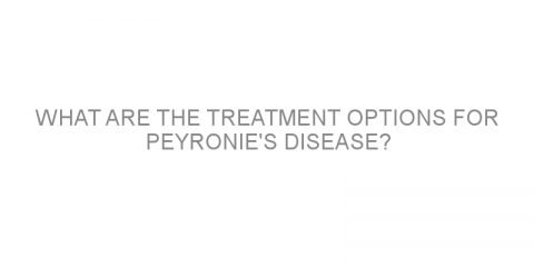 What are the treatment options for Peyronie's disease?