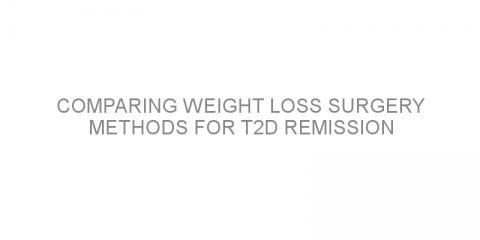 Comparing weight loss surgery methods for T2D remission