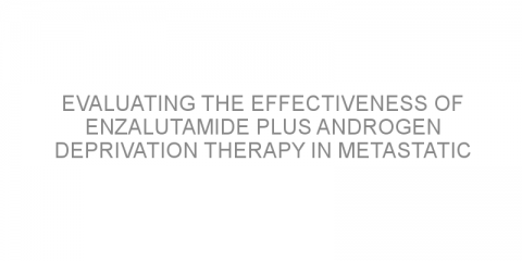 Evaluating the effectiveness of enzalutamide plus androgen deprivation therapy in metastatic hormone-sensitive prostate cancer by pattern of metastatic spread