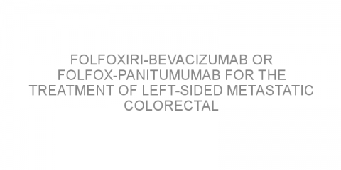 FOLFOXIRI-bevacizumab or FOLFOX-panitumumab for the treatment of left-sided metastatic colorectal cancer without RAS/BRAF mutations.