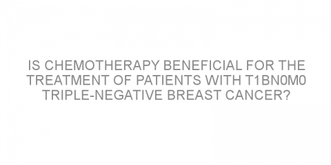 Is chemotherapy beneficial for the treatment of patients with T1bN0M0 triple-negative breast cancer?