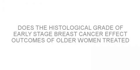 Does the histological grade of early stage breast cancer effect outcomes of older women treated with breast conserving surgery?