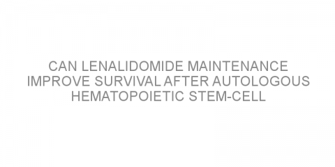 Can lenalidomide maintenance improve survival after autologous hematopoietic stem-cell transplantation in patients with mantle cell lymphoma?