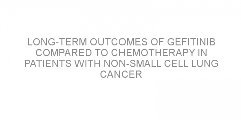 Long-term outcomes of gefitinib compared to chemotherapy in patients with non-small cell lung cancer
