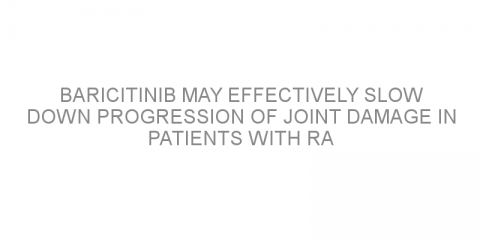 Baricitinib may effectively slow down progression of joint damage in patients with RA