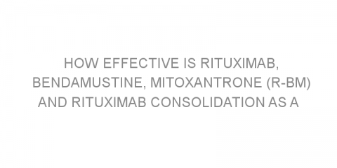 How effective is rituximab, bendamustine, mitoxantrone (R-BM) and rituximab consolidation as a treatment regimen for elderly patients with advanced follicular lymphoma?
