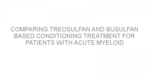 Comparing treosulfan and busulfan based conditioning treatment for patients with acute myeloid leukemia before transplant