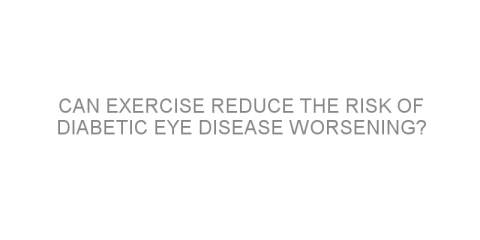 Can exercise reduce the risk of diabetic eye disease worsening?