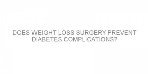 Does weight loss surgery prevent diabetes complications?