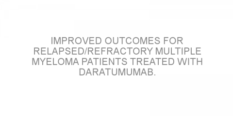 Improved outcomes for relapsed/refractory multiple myeloma patients treated with daratumumab.