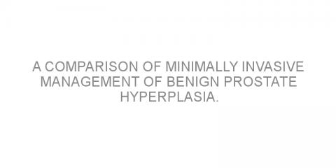 A comparison of minimally invasive management of benign prostate hyperplasia.