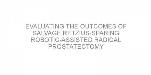 Evaluating the outcomes of salvage Retzius-sparing robotic-assisted radical prostatectomy