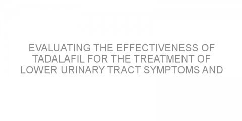 Evaluating the effectiveness of tadalafil for the treatment of lower urinary tract symptoms and erectile dysfunction after low-dose-rate brachytherapy for prostate cancer