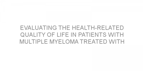 Evaluating the health-related quality of life in patients with multiple myeloma treated with daratumumab combined with bortezomib and dexamethasone.