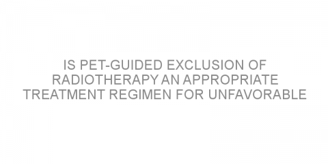 Is PET-guided exclusion of radiotherapy an appropriate treatment regimen for unfavorable early-stage Hodgkin lymphoma?