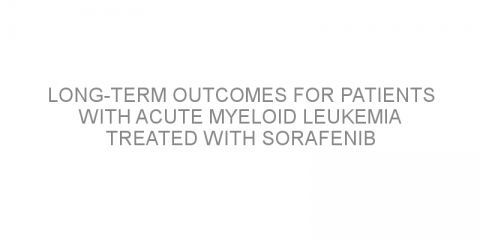 Long-term outcomes for patients with acute myeloid leukemia treated with sorafenib