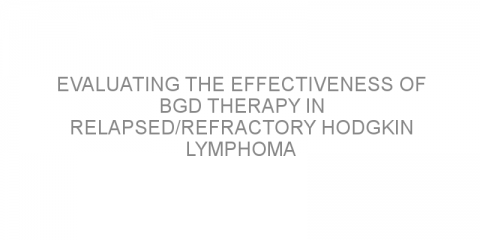 Evaluating the effectiveness of BGD therapy in relapsed/refractory Hodgkin lymphoma