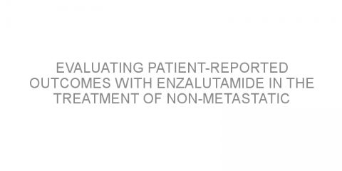 Evaluating patient-reported outcomes with enzalutamide in the treatment of non-metastatic castration-resistant prostate cancer