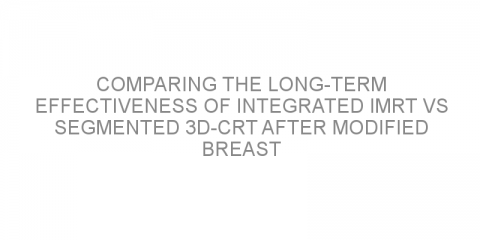 Comparing the long-term effectiveness of integrated IMRT vs segmented 3D-CRT after modified breast removal surgery in breast cancer patients
