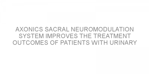 Axonics sacral neuromodulation system improves the treatment outcomes of patients with urinary urgency incontinence.