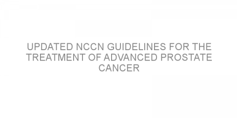 Updated NCCN guidelines for the treatment of advanced prostate cancer