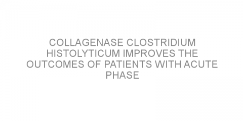 Collagenase Clostridium histolyticum improves the outcomes of patients with acute phase Peyronie's disease