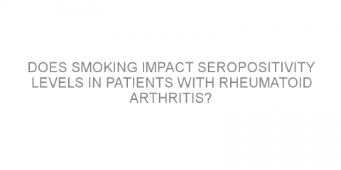 Does smoking impact seropositivity levels in patients with rheumatoid arthritis?