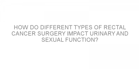 How do different types of rectal cancer surgery impact urinary and sexual function?
