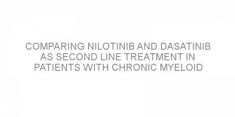 Comparing nilotinib and dasatinib as second line treatment in patients with chronic myeloid leukemia in a real-life setting