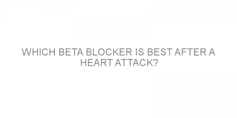 Which beta blocker is best after a heart attack?