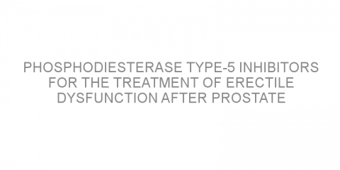 Phosphodiesterase type-5 inhibitors for the treatment of erectile dysfunction after prostate surgery: A review
