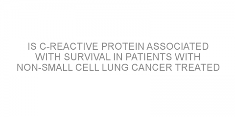 Is C-reactive protein associated with survival in patients with non-small cell lung cancer treated with atezolizumab?