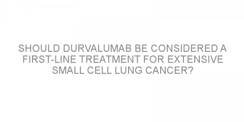 Should durvalumab be considered a first-line treatment for extensive small cell lung cancer?