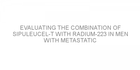 Evaluating the combination of sipuleucel-T with radium-223 in men with metastatic castration-resistant prostate cancer spread to the bone.