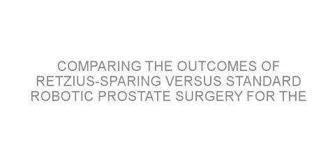Comparing the outcomes of Retzius-sparing versus standard robotic prostate surgery for the treatment of localized prostate cancer.