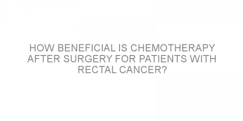 How beneficial is chemotherapy after surgery for patients with rectal cancer?