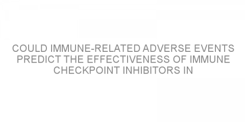 Could immune-related adverse events predict the effectiveness of immune checkpoint inhibitors in patients with lung cancer?