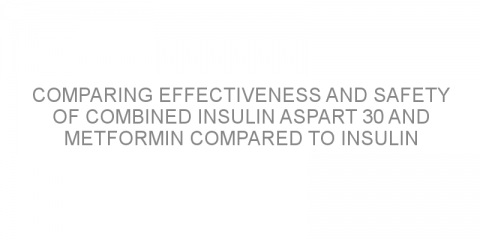 Comparing effectiveness and safety of combined insulin aspart 30 and metformin compared to insulin aspart 30 alone in patients with type 2 diabetes and different heart disease risk profiles