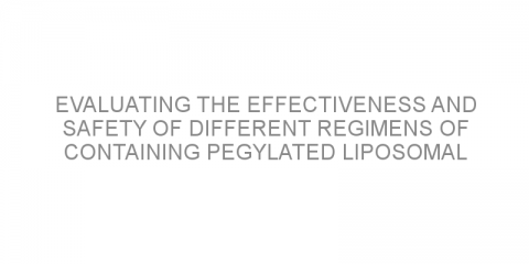 Evaluating the effectiveness and safety of different regimens of containing pegylated liposomal doxorubicin in patients with newly diagnosed multiple myeloma.