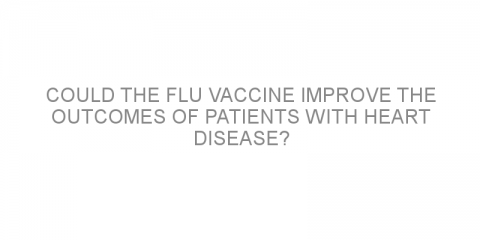 Could the flu vaccine improve the outcomes of patients with heart disease?
