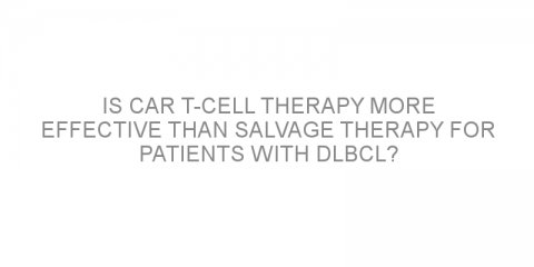 Is CAR T-cell therapy more effective than salvage therapy for patients with DLBCL?